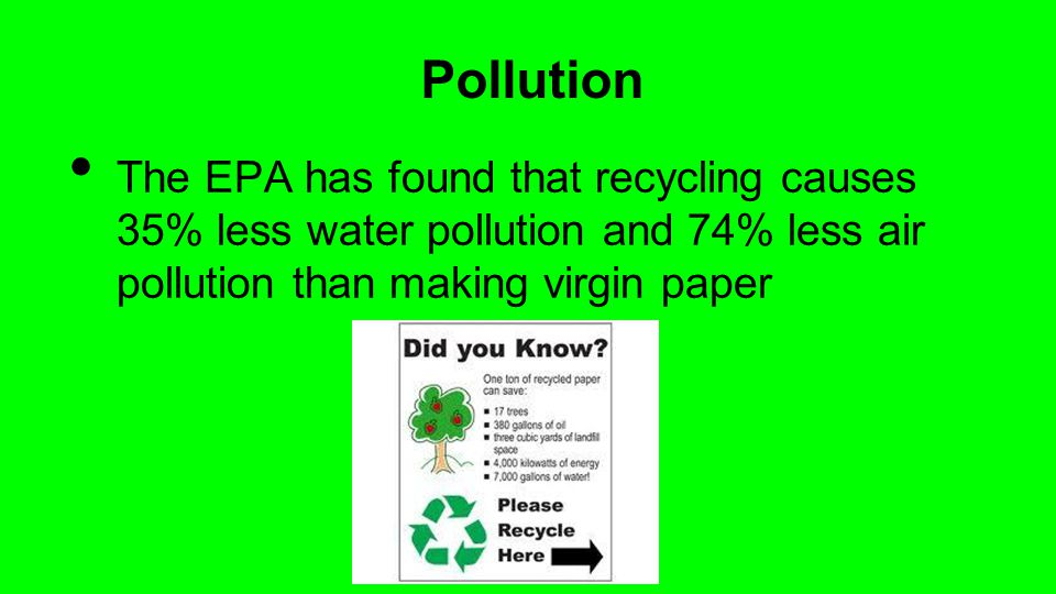 Pollution and recycling essay