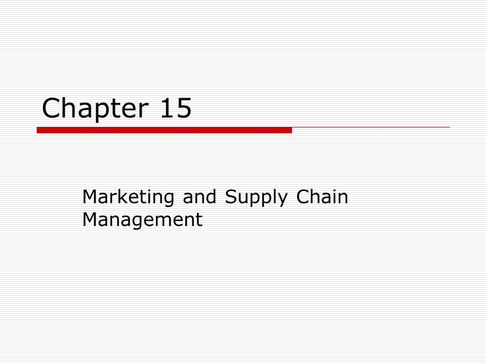 marketing and supply chain management Get insight into the kelley school of businesses supply chain management major, and learn how it will prepare you for a successful business career.