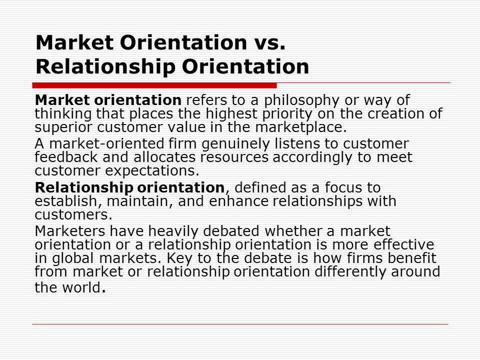 definition of relationship marketing orientation philosophy