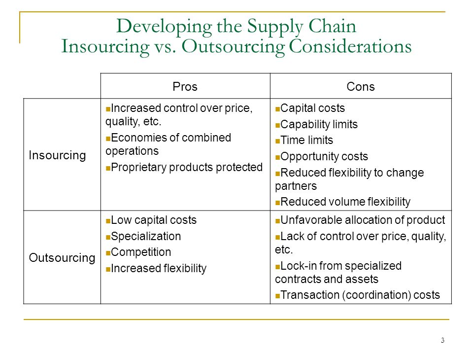 supply chain management pros and cons Access supply chain management 5th edition chapter 3 solutions now our solutions are written by chegg experts so you can be  what are the pros and cons of this.