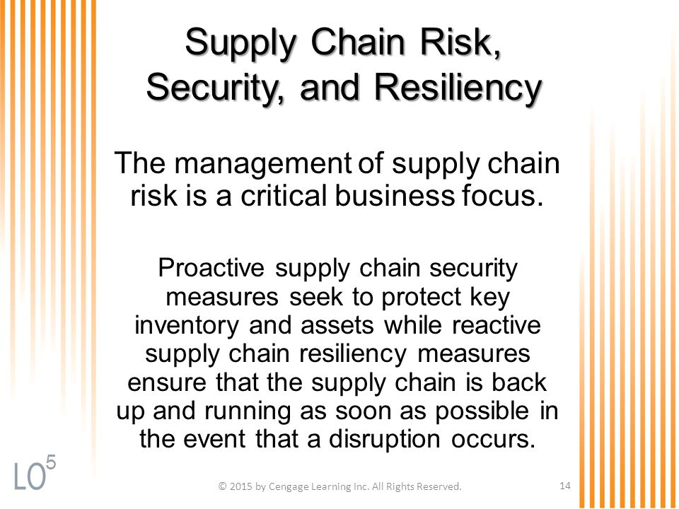 Supply Chain Risk, Security, and Resiliency