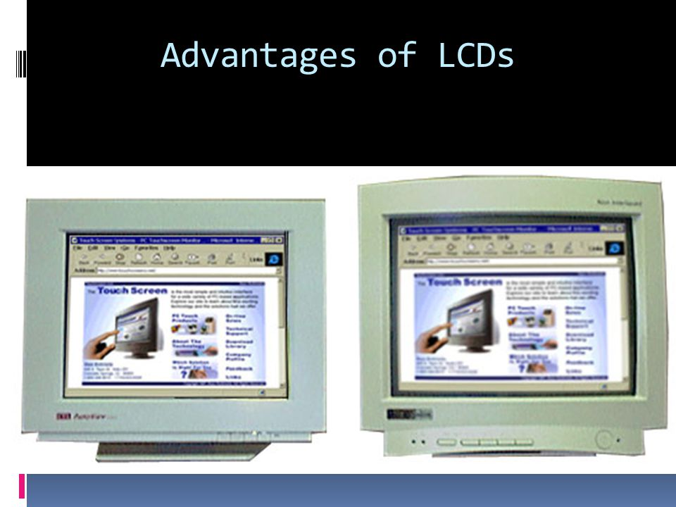 Advantages Of Internet Monitor System : Lcd monitors ppt video online download