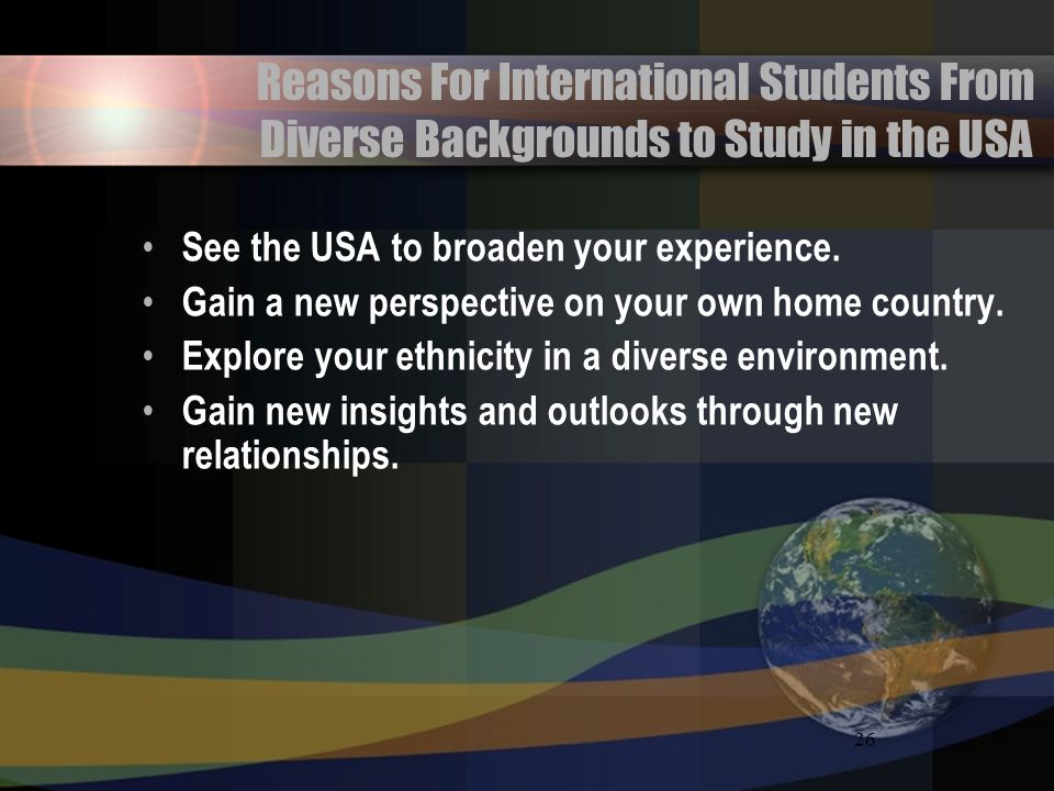 Reasons For International Students From Diverse Backgrounds to Study in the USA