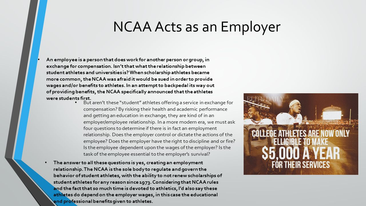 student athletes should be compensated for their work