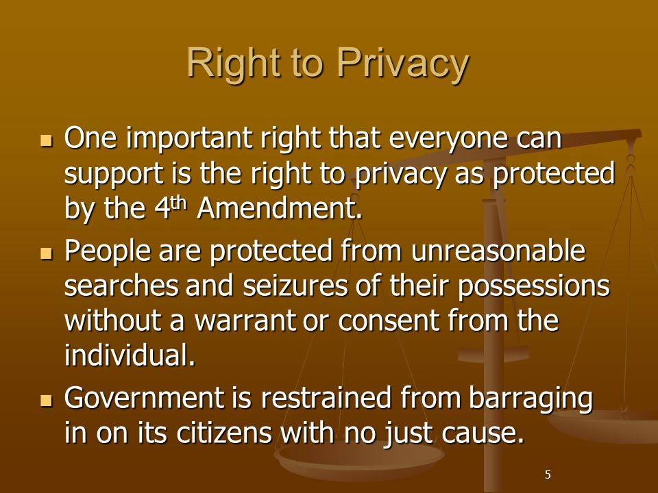 individuals right to privacy While an individual's right to privacy isn't explicitly addressed in the us constitution or the bill of rights, in a landmark ruling during the case of griswold v.