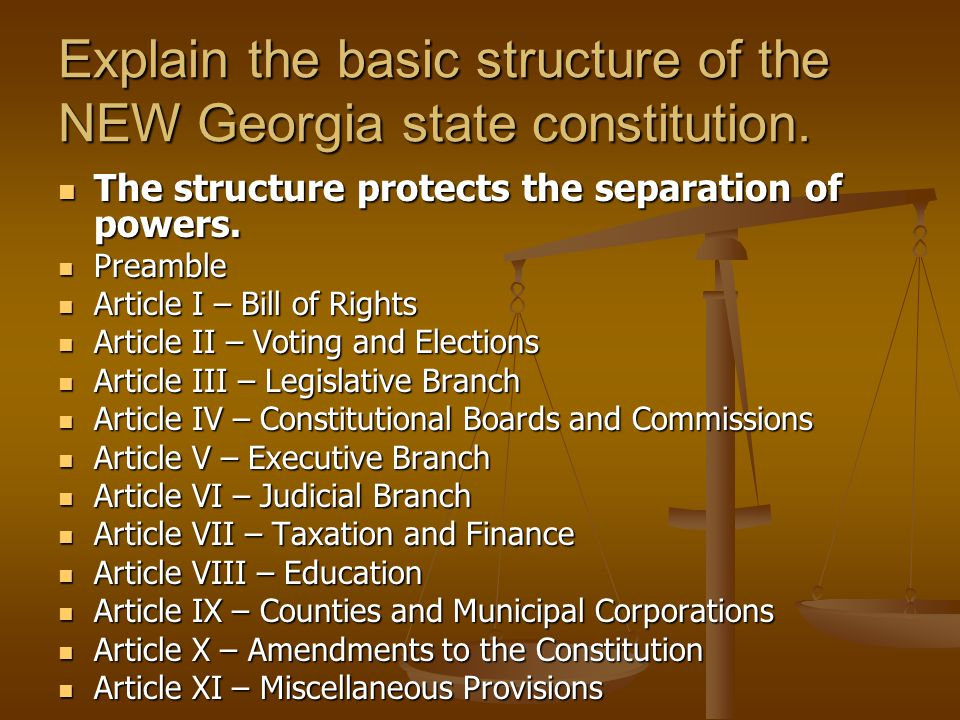 explain the structure of the state