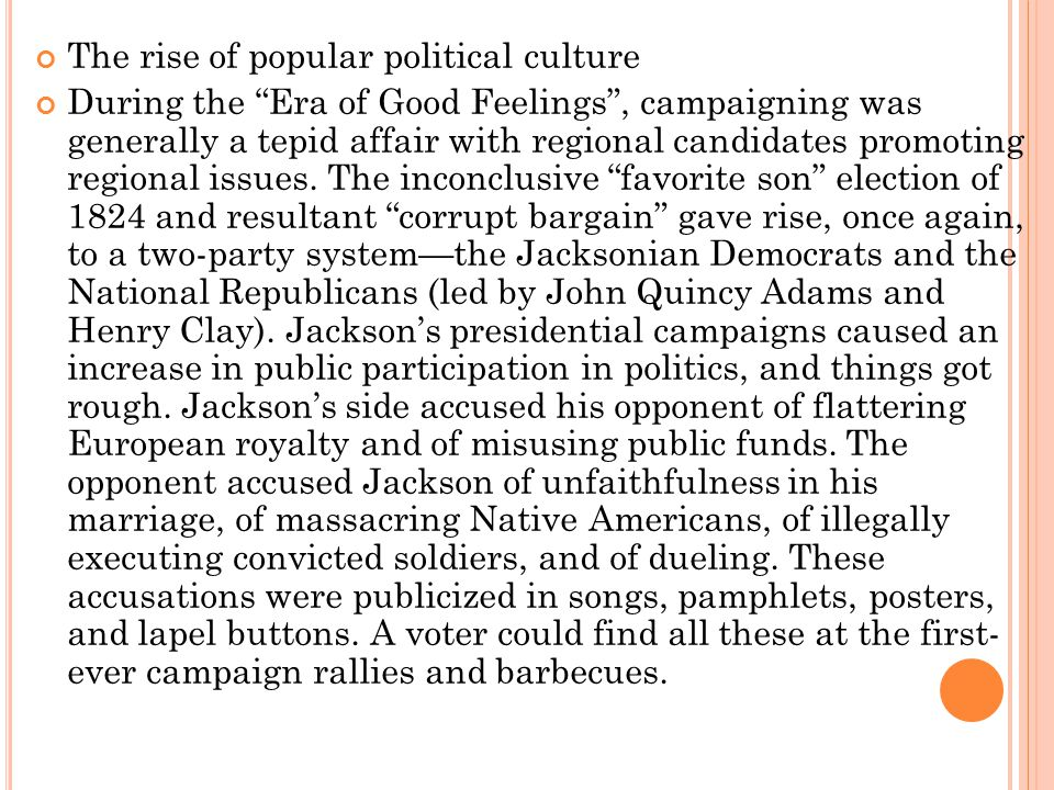 The rise of popular political culture