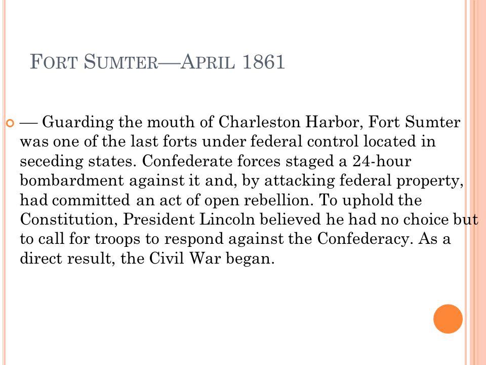 Fort Sumter––April 1861