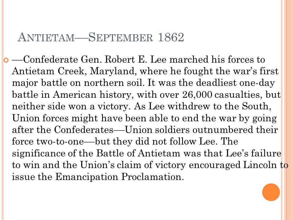 Antietam––September 1862