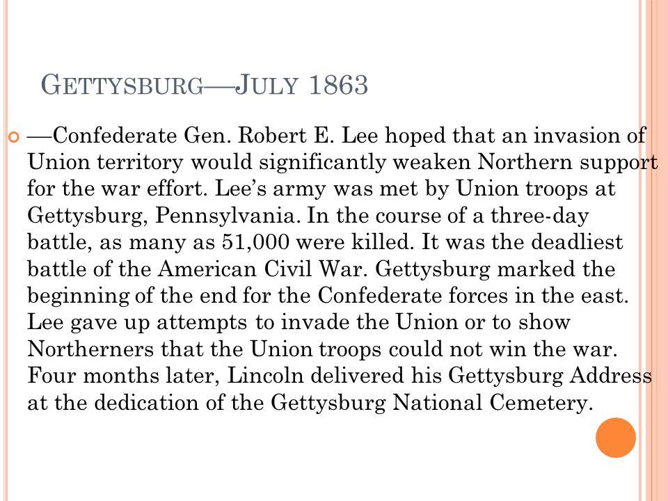 Gettysburg––July 1863