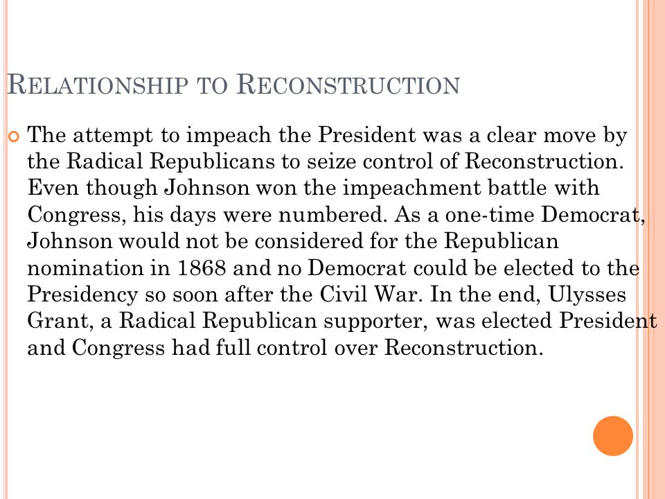 Relationship to Reconstruction