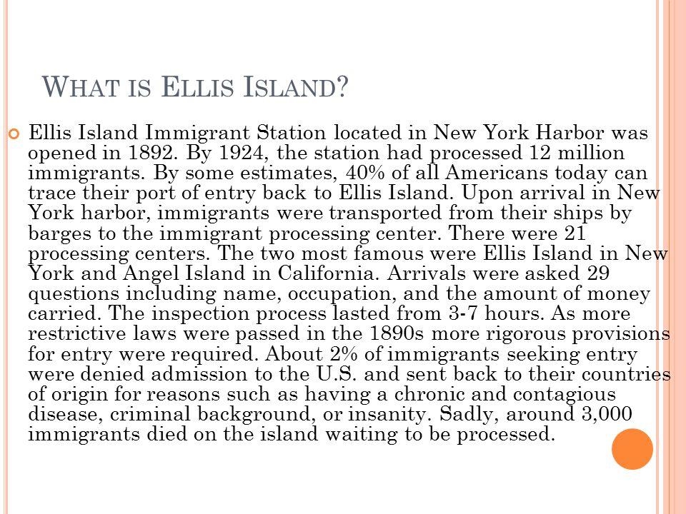 What is Ellis Island