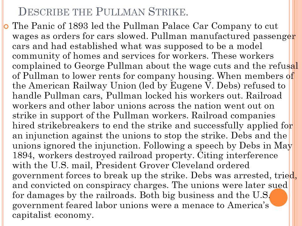 Describe the Pullman Strike.