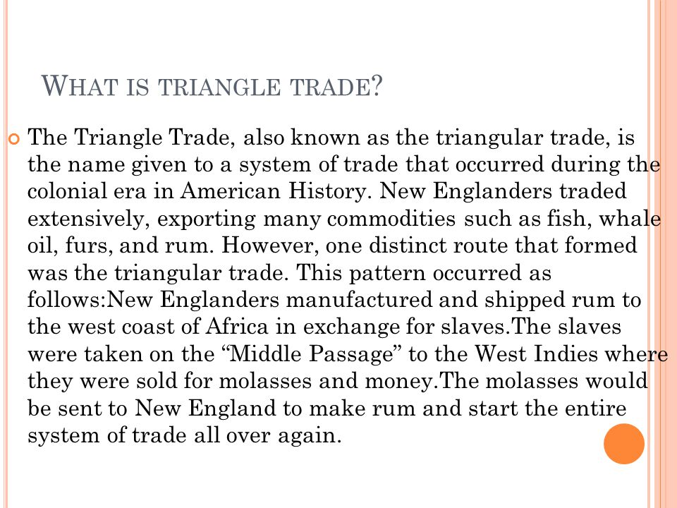 What is triangle trade