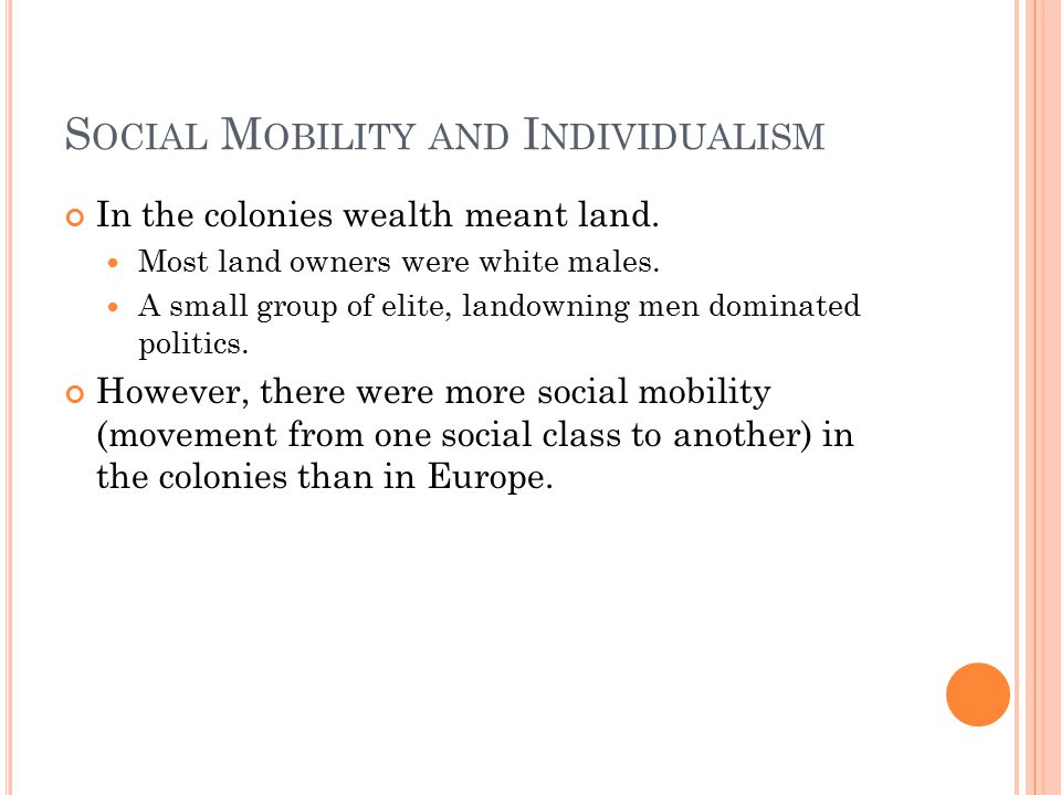 Social Mobility and Individualism