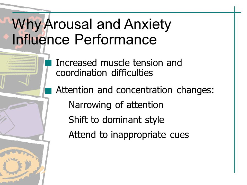 arousal anxiety Sexual obsessions in ocd rarely produce sexual arousal because anxiety and arousal cannot occupy the same space [] however, the sufferer's constant focus on not becoming aroused or checking that they do not become aroused may lead to 'groinal response' many ocd sufferers take this groinal.