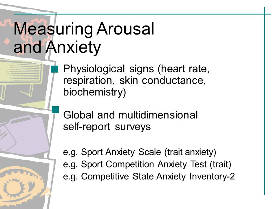 arousal and anxiety in sport Arousal it can have many changes in concentration and attention if you have low arousal that means you wont be concentrated or paying attention.