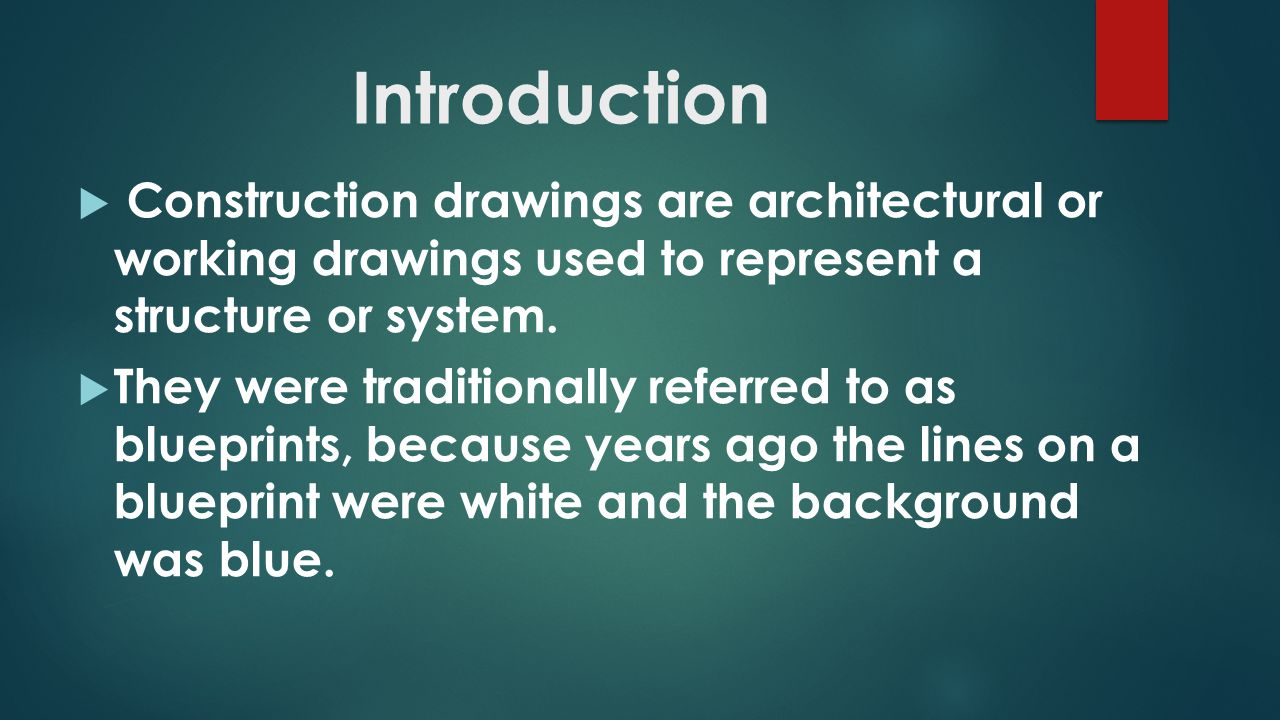 Intro to construction drawings ppt video online download 2 introduction construction malvernweather Choice Image
