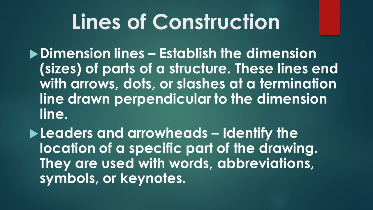 Intro to construction drawings ppt video online download 36 lines malvernweather Image collections
