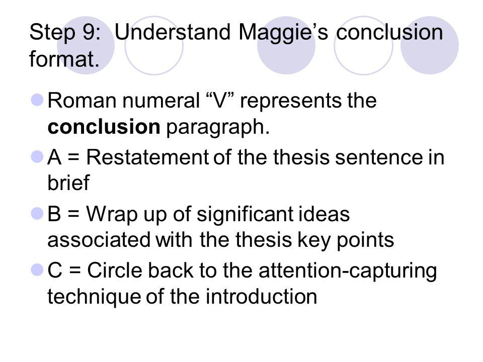 Conclusion paragraph format