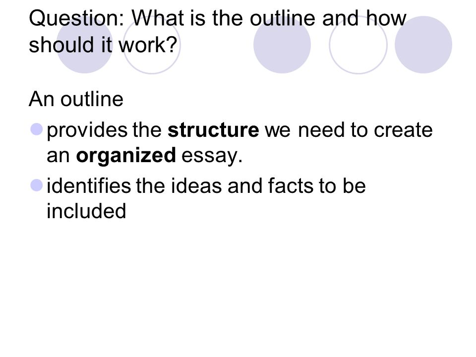 A Guide on How to Write an Informative Essay Outline