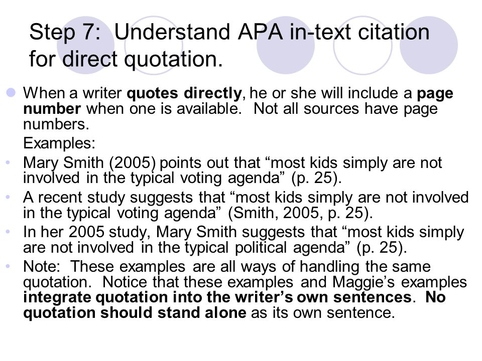 Apa Quotes Within Quotes: Outline Of An Informative Essay