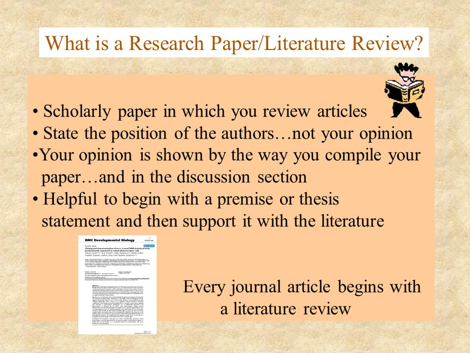 literary research As part of the planning process you should have done a literature review, which is a survey of important articles, books and other sources pertaining to your research topicnow, for the second main section of your research report you need to write a summary of the main studies and research related to your topic.
