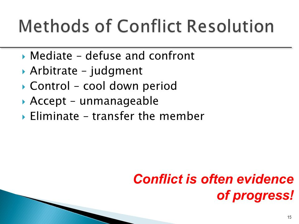 Ways To Deal With Team Conflict Effectively