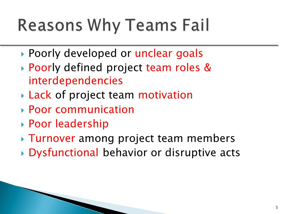 the dysfunctional project team Five characteristics of a functional team in an attempt to figure out how libraries can become more innovative much or my reading and postings of late have focused on the characteristics of innovative organizations i have come across several works detailing the characteristics of unhealthy and dysfunctional organizations as a.
