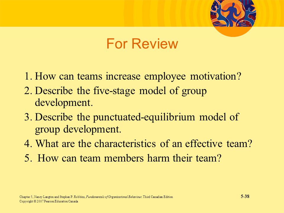 What are the differences between the five stage model of team development and the punctuated equilib