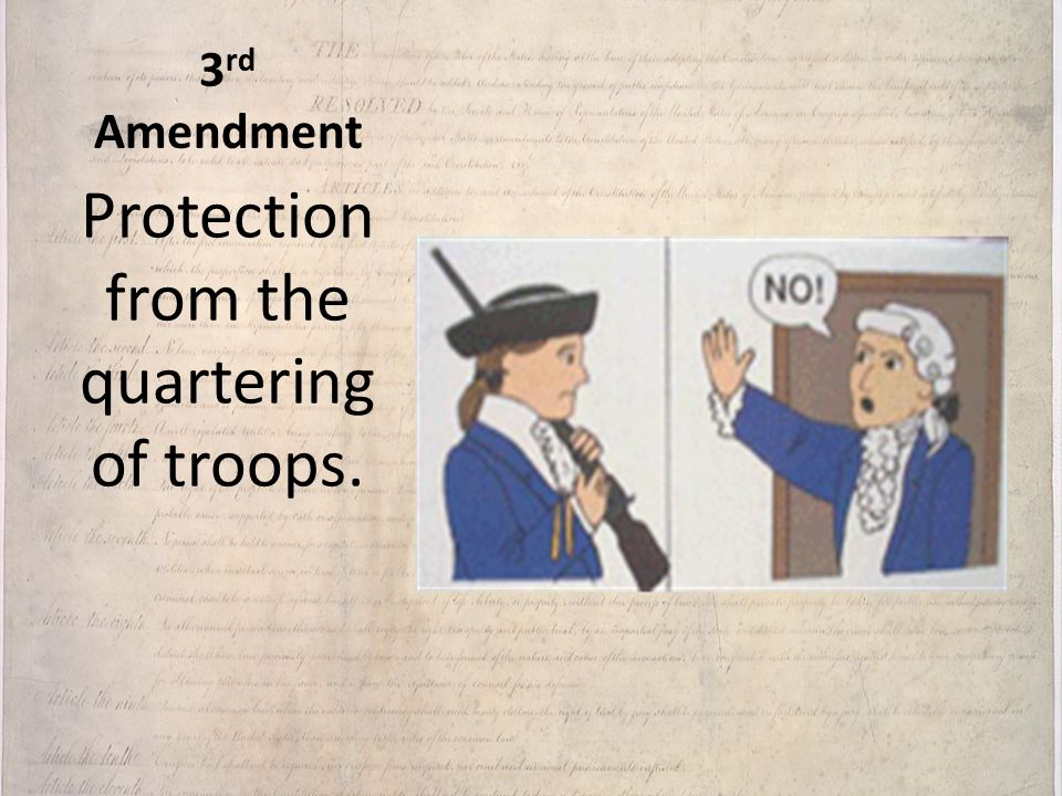 Protection from the quartering of troops.