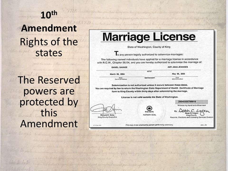 The Reserved powers are protected by this Amendment
