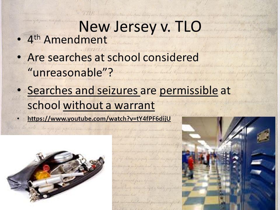 New Jersey v. TLO 4th Amendment