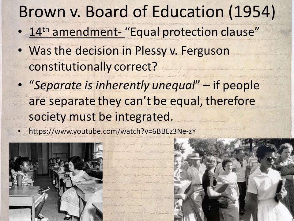 Brown v. Board of Education (1954)