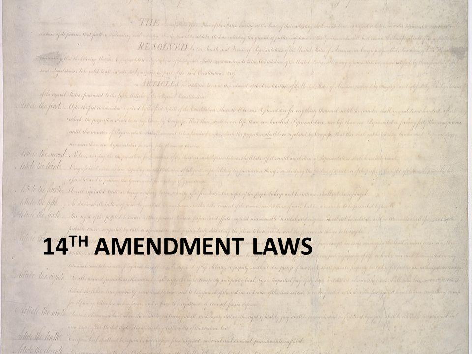 14th amendment laws