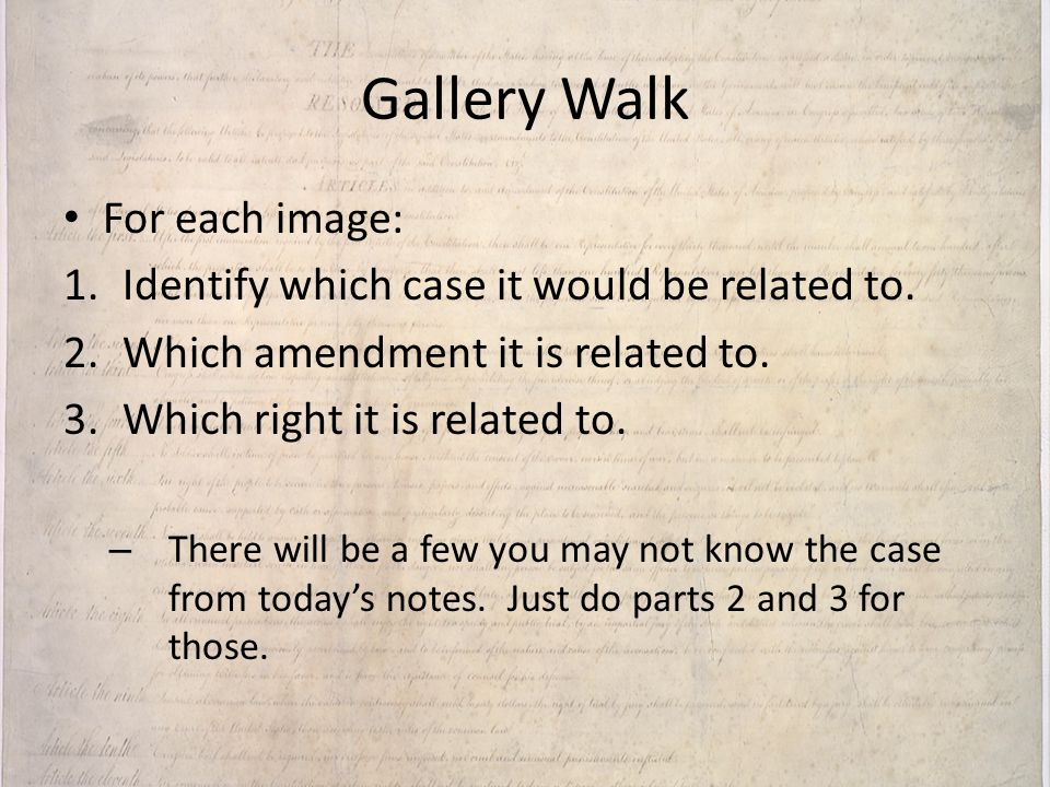 Gallery Walk For each image: