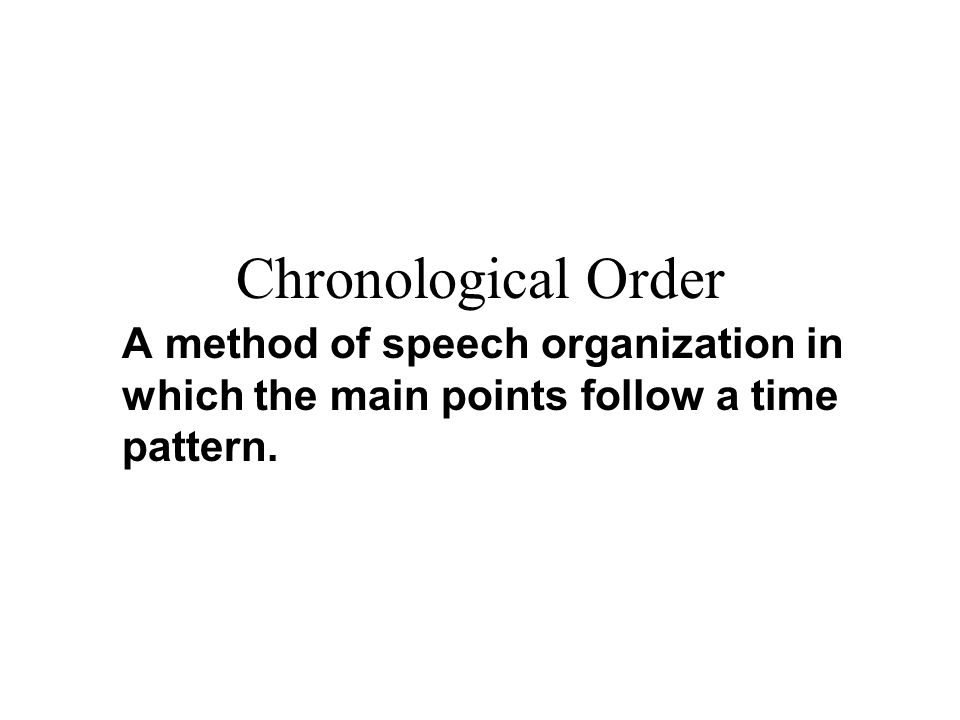 chronological informative speeches Informative persuasive demonstration speech topics and methods to develop hundred show the activities or moves you have to make in a logical chronological.