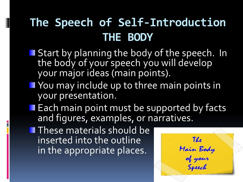 The Speech Of SelfIntroduction And Introducing A Speaker  Ppt