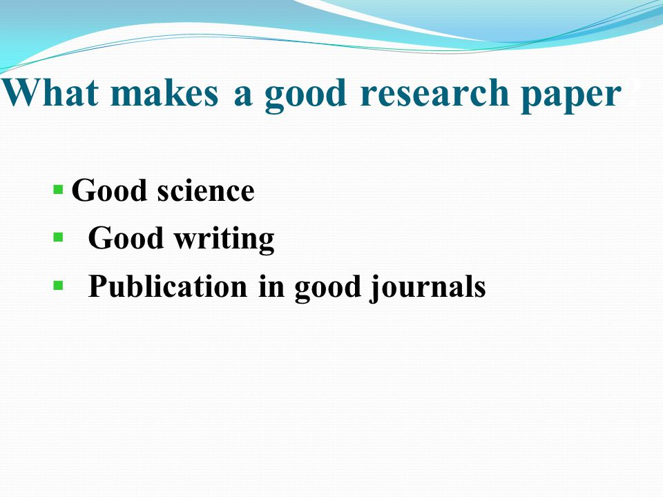 how to write a paper for publication ppt