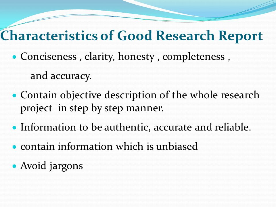 characteristics of a good research paper