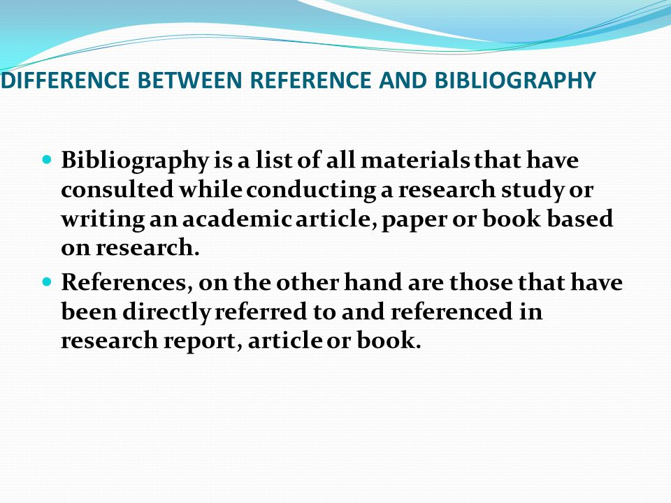 References In Research Paper