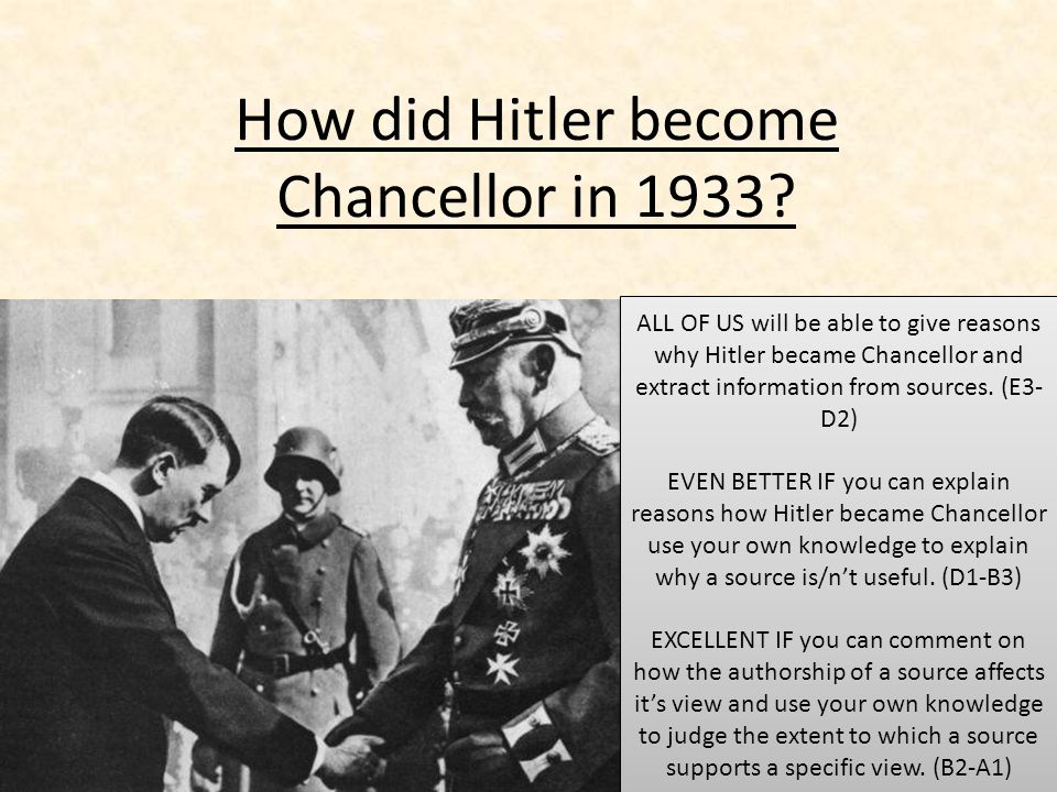 why did hitler become dictator of Reich president paul von hindenburg with reich chancellor adolf hitler   capacity, hitler now becomes the absolute dictator of germany there are no legal  or.