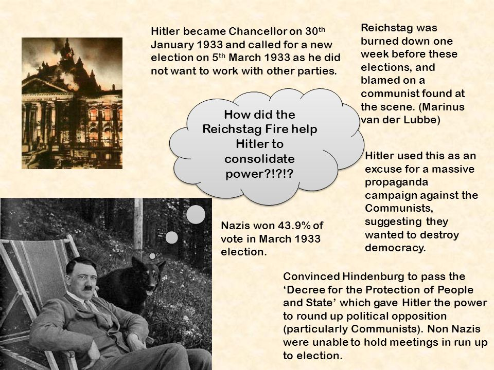 how did hitler consolidate power from How did hitler consolidate power in order to gain power in germany, hitler used force to make people agree with him even if they didn't want to.