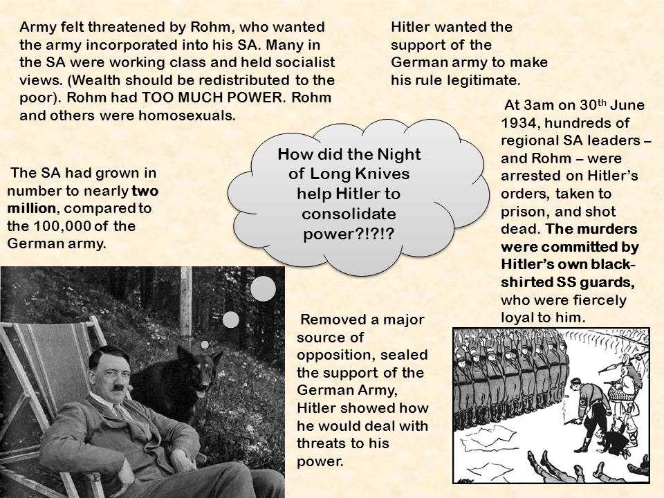 how does hitler consolidate his power How does the ruler of an absolute monarchy get his power  a dictator eg hitler was a dictator but was addressed as the fuhrer other titles used for.