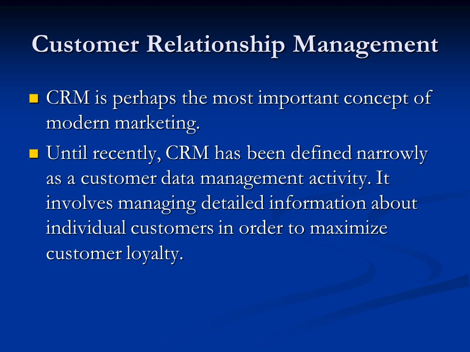 customer relationship management activities