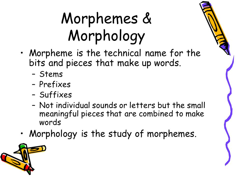 words and morphemes
