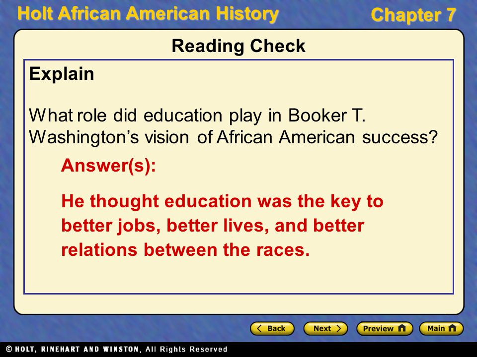 an essay on booker t washington and the improvement of the african americans lives We are men we want to be treated as men and we shall win web dubois is on the second row, second from the right educated african americans, however booker t washington believed that african americans in the south should focus on which of the following.