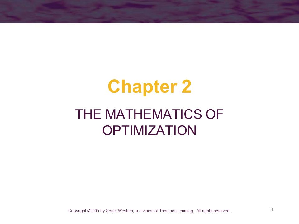 chapter 2 economic optimization Chapter 15: business and economic optimization problems 01) example 1 02) example 2: bicycles  chapter 27: applications of exponential and logarithmic.