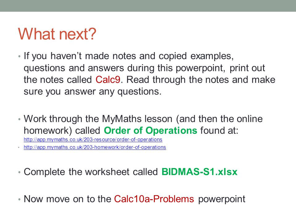 Order Of Operations - Bidmas - Ppt Video Online Download