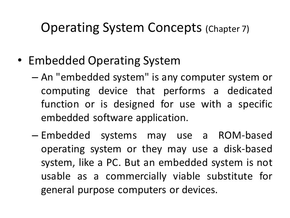 computer systems concepts chapter 8 Chapter 1 - 8 essay question review 1 explain why an operating system can be viewed as a resource allocator ans: a computer system has many resources that may be required to solve.